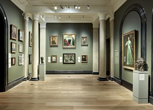 Explore the Collection, Photo of Room 30 with portraits on the wall