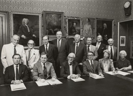 Trustees and Senior Staff of the National Portrait Gallery by Conrad Hafenrichter