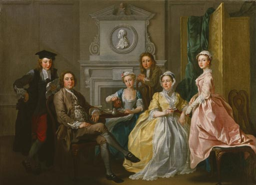 Research your family history, painting of Jonathan Tyers and his family by Francis Hayman