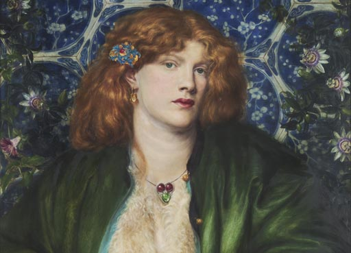 The Blue Bower (detail) by Dante Gabriel Rossetti, 1865, The Henry Barber Trust, the Barber Institute of Fine Arts, University of Birmingham.