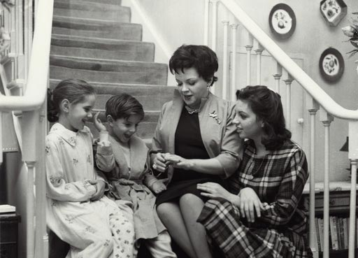 Sitters A-Z, photograph of Judy Garland, Singer and actress with children