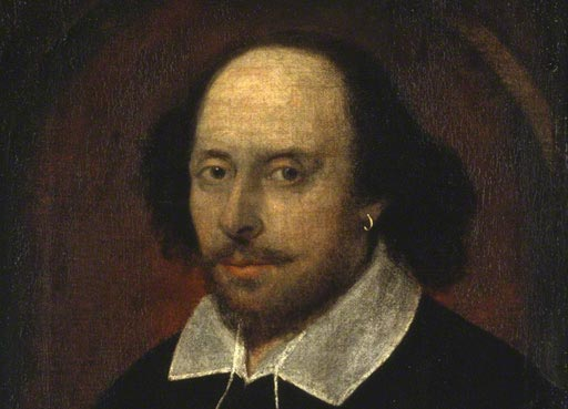 Primary Collection, painting of William Shakespeare, Dramatist and poet